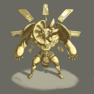 Vaiarello loic aztec statue character 2