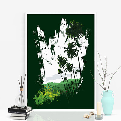 Rajesh r sawant coconut trees mockup