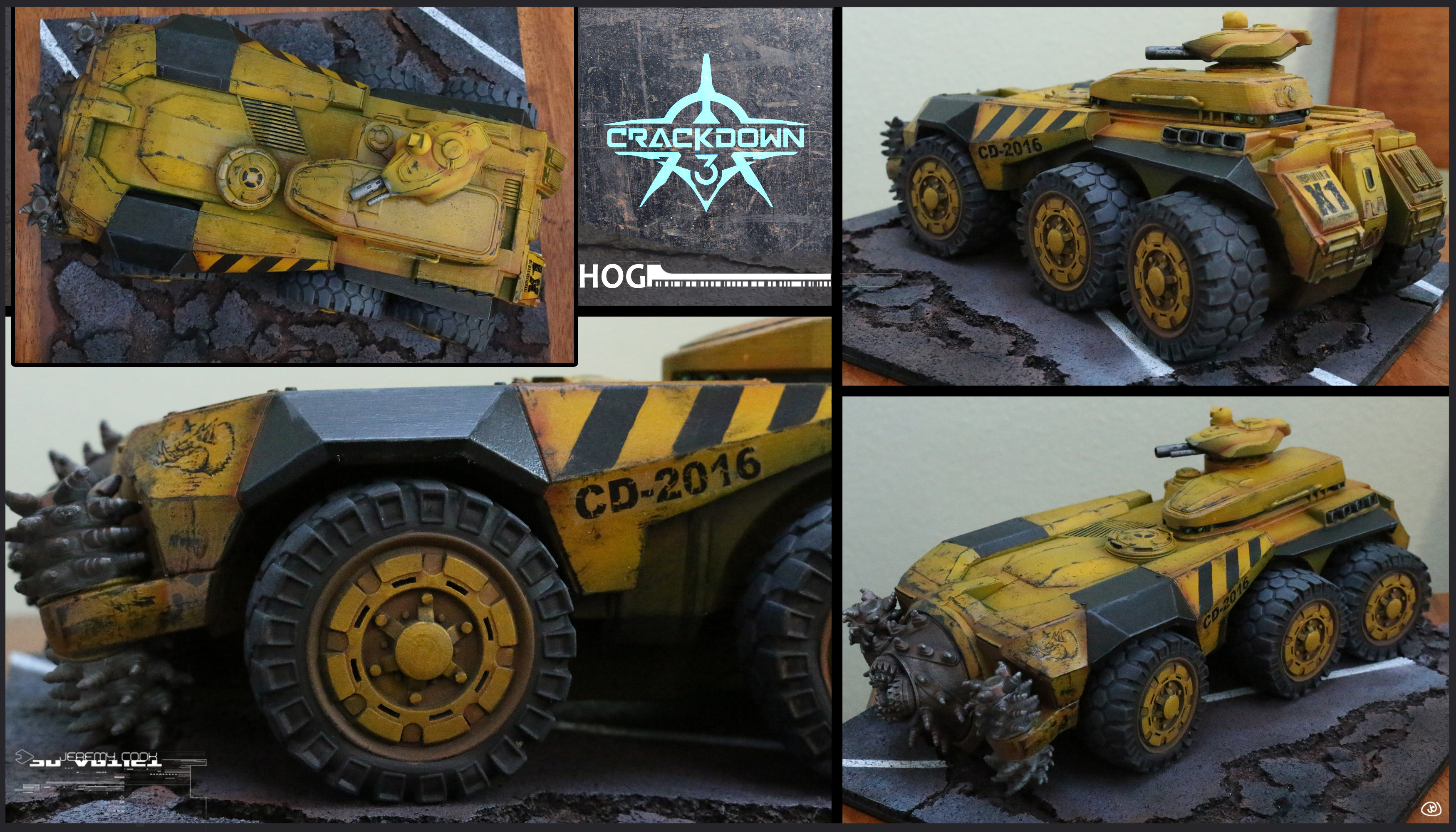 I created a 3D print, assembled and painted model (alternate color scheme and themed base) roughly 12 inches long