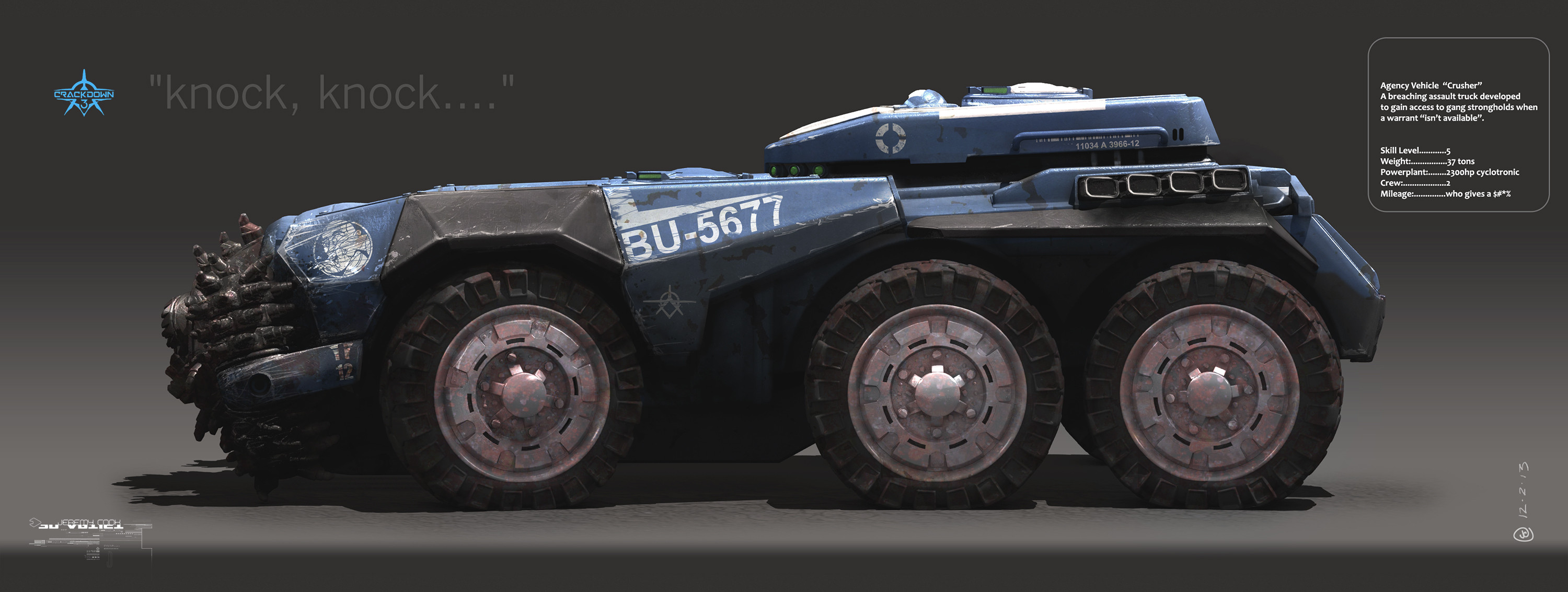 Early Concept for a breaching vehicle