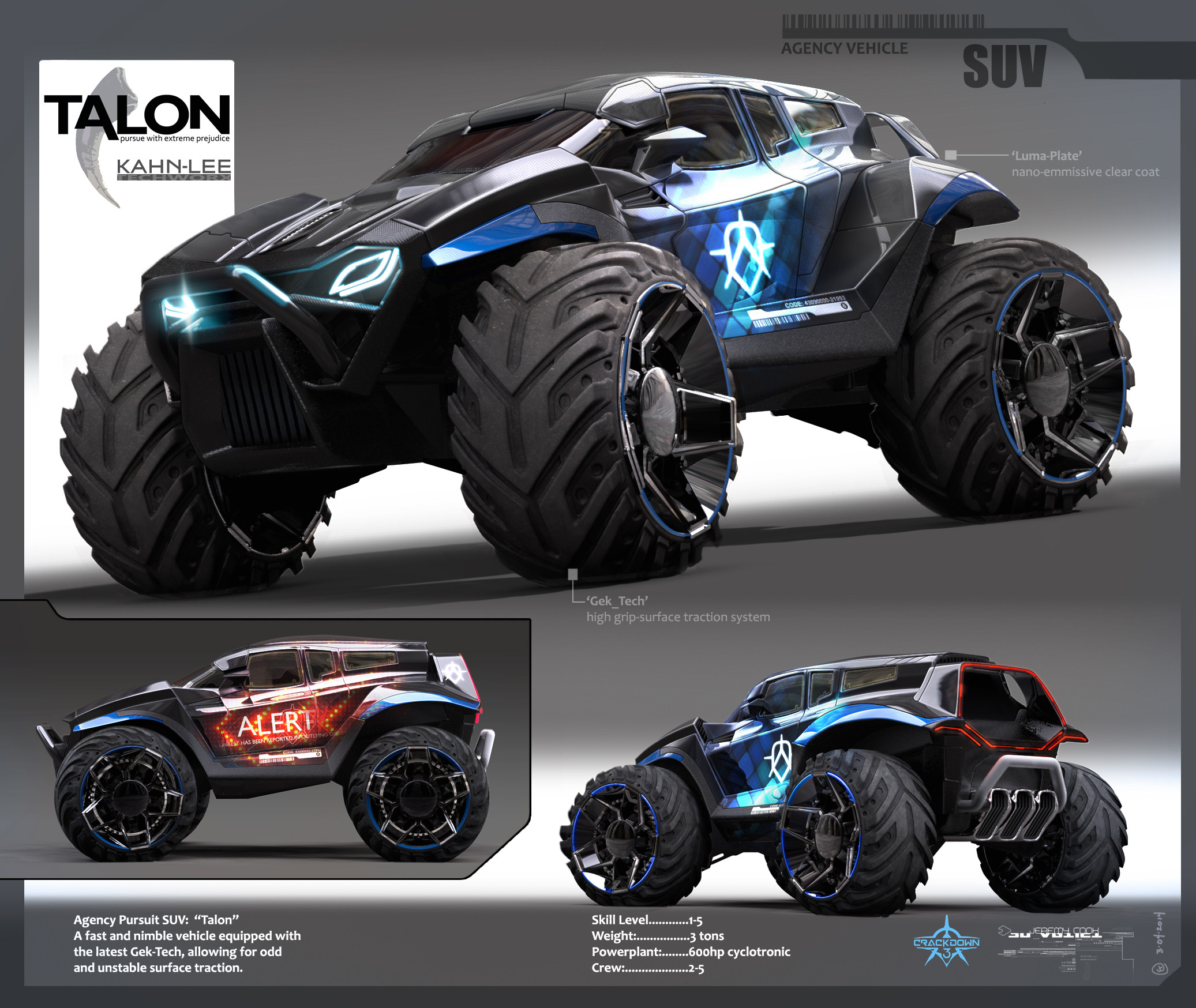 Early concept for Agent SUV
