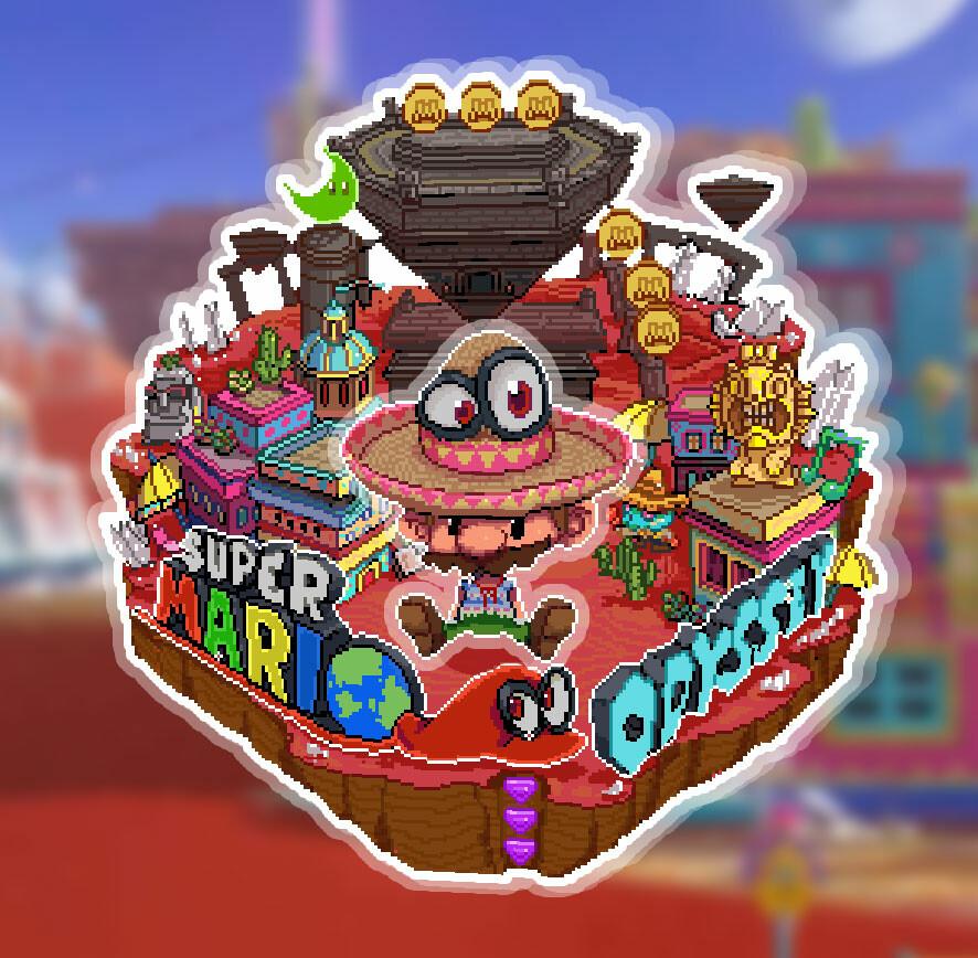 Artstation Super Mario Odyssey Pixelart Linkduck