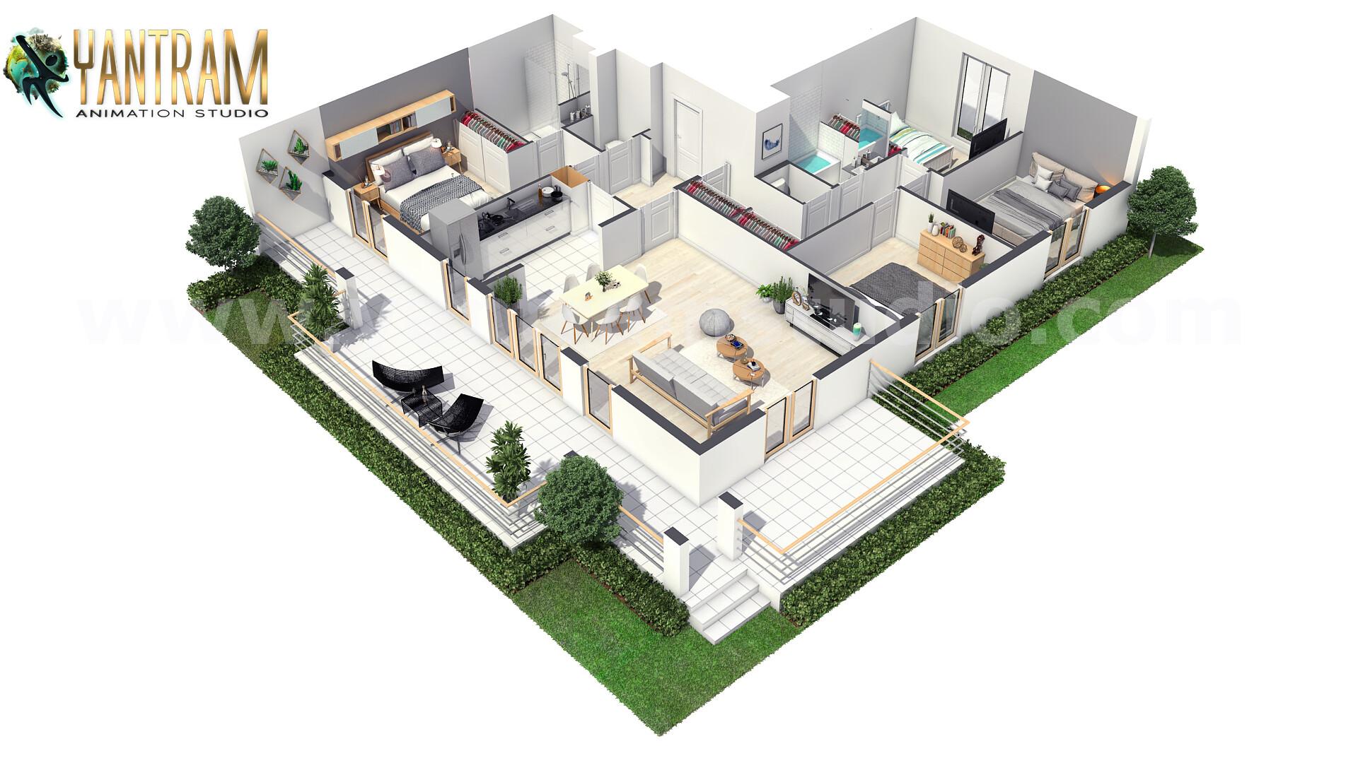 ArtStation - Modern House 3D Floor Plan Design with unique ...