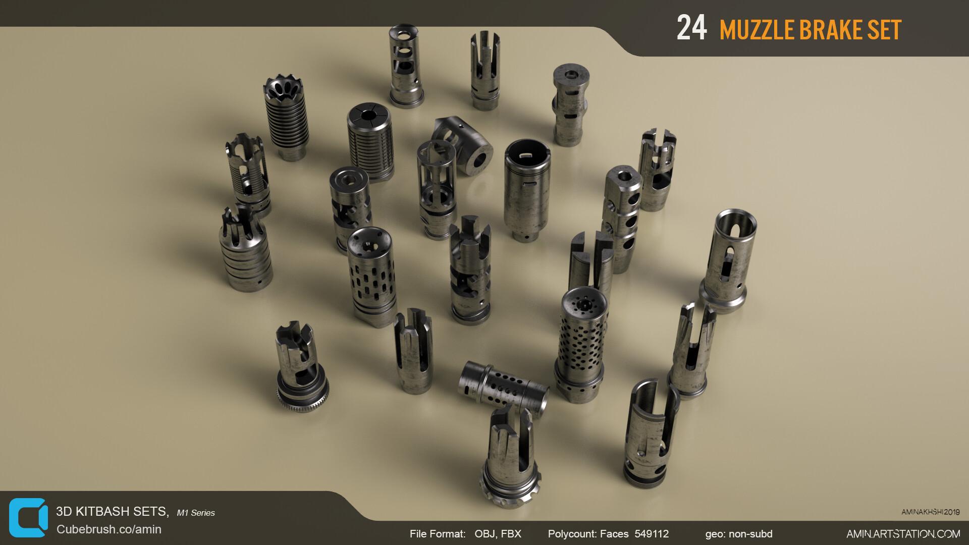 Amin akhshi 008 muzzle brakes set
