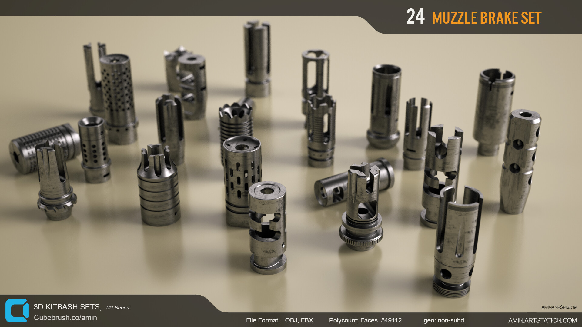 Amin akhshi 002 muzzle brakes set