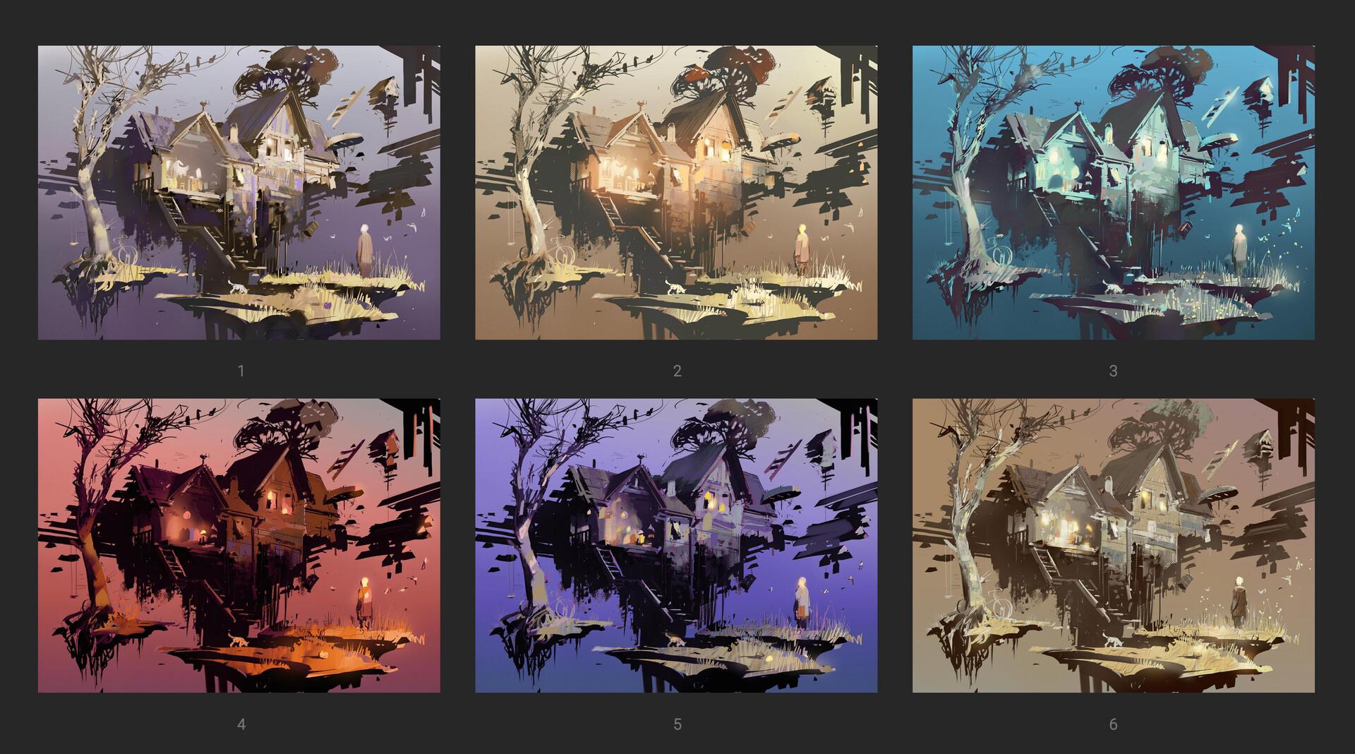Pavel goloviy color sketches