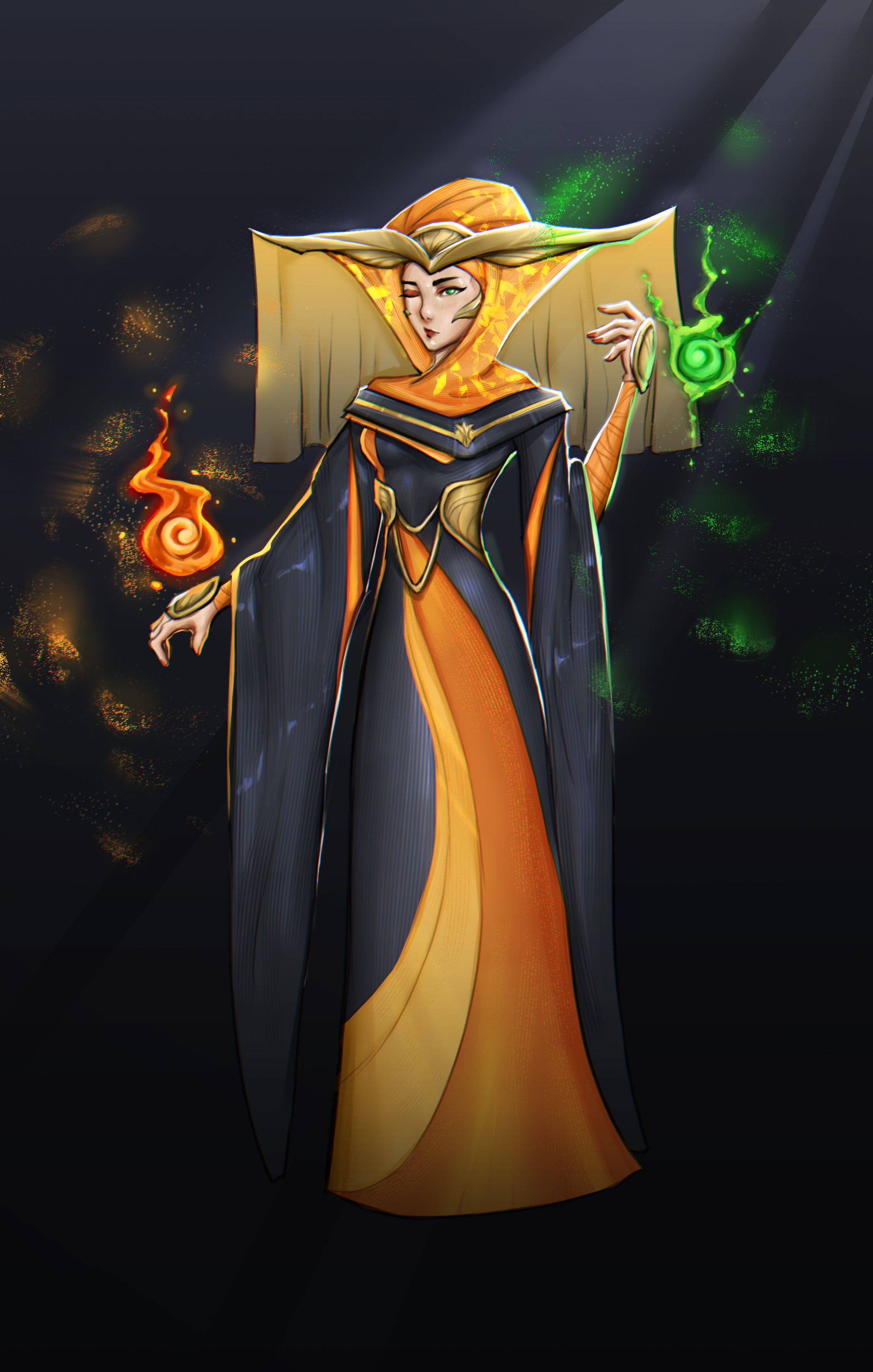 Invoker Araenia [1/3] The high priest/mage who serves as Solara's representative in political meetings occasionally. Ambitious to the point of sacrificing an eye to become a more powerful healer.