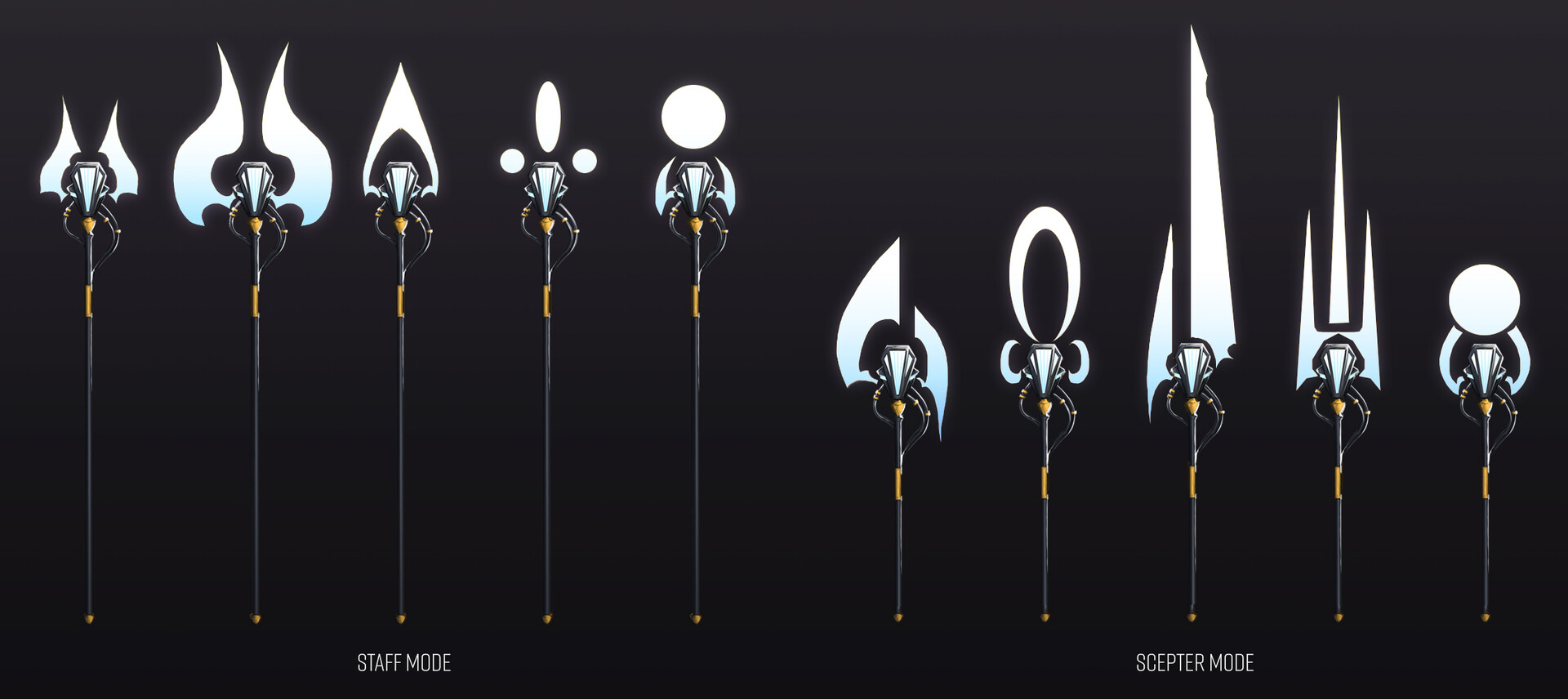 Lord Faltreau [2/2] Weapon/staff exploration. Wanted energy-based weapon that could adjust to his battle needs.