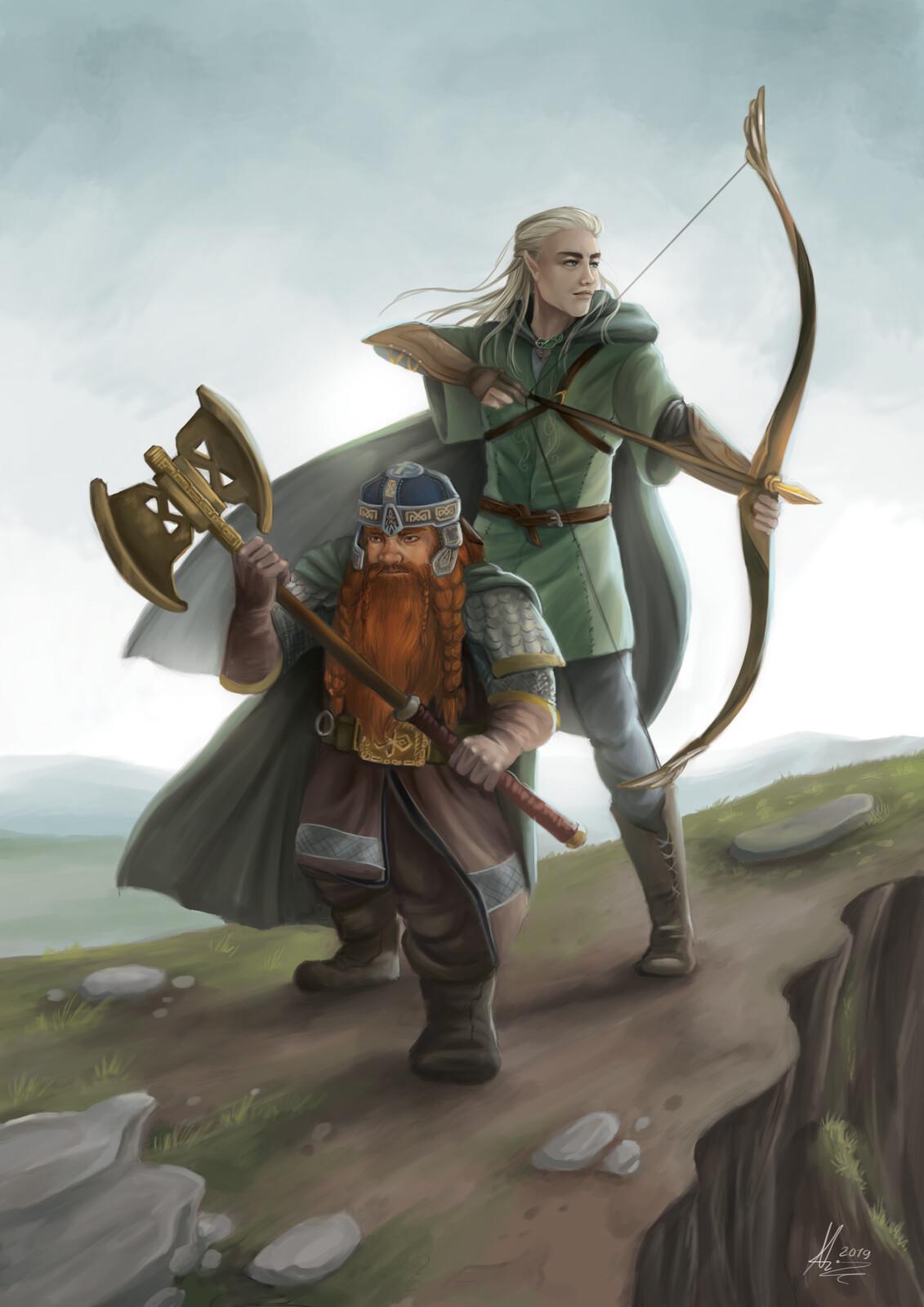 Nathalie Kranich - Gimli and Legolas