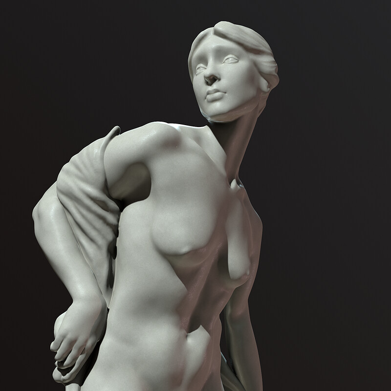 """The Bather"" Sculpture Study"