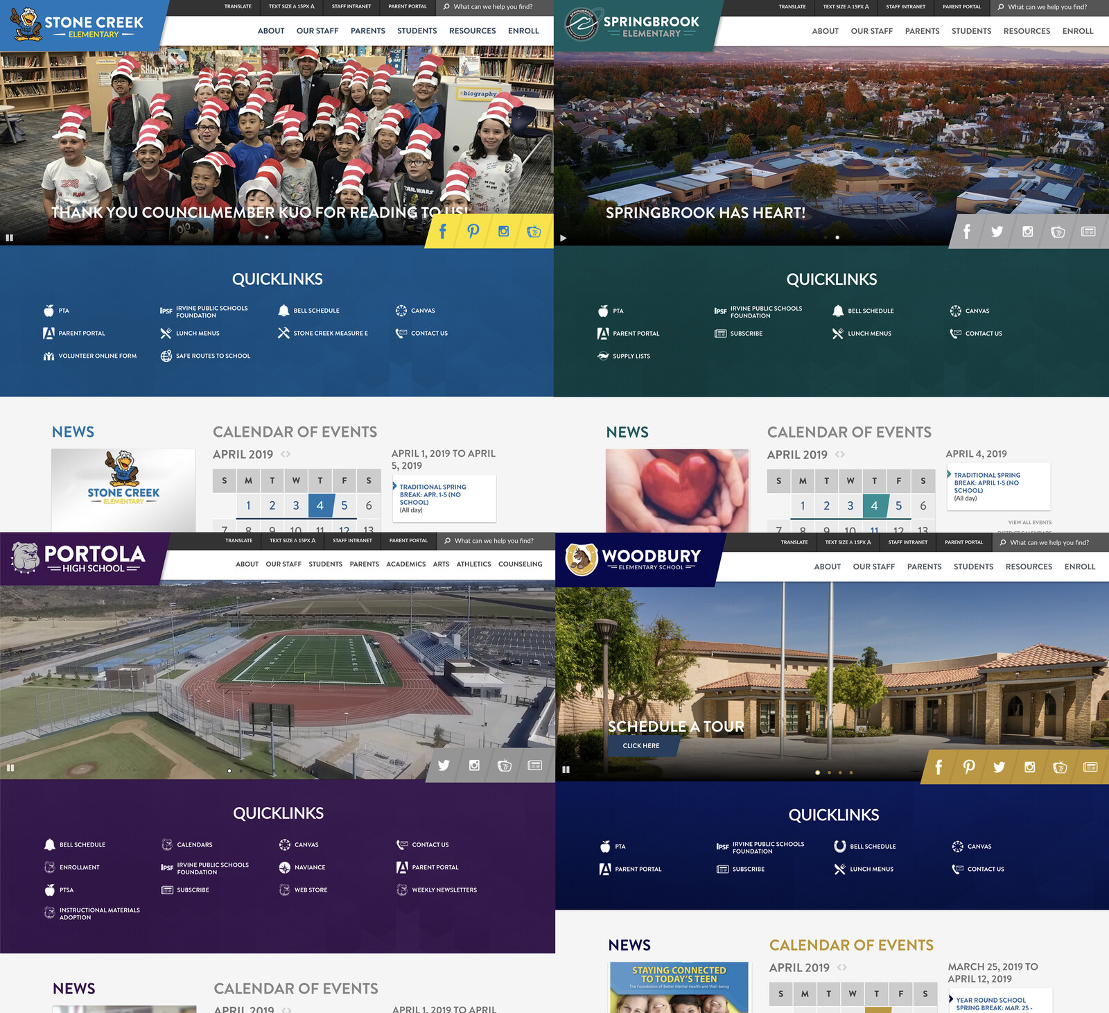 IUSD 40+ School Website Refresh