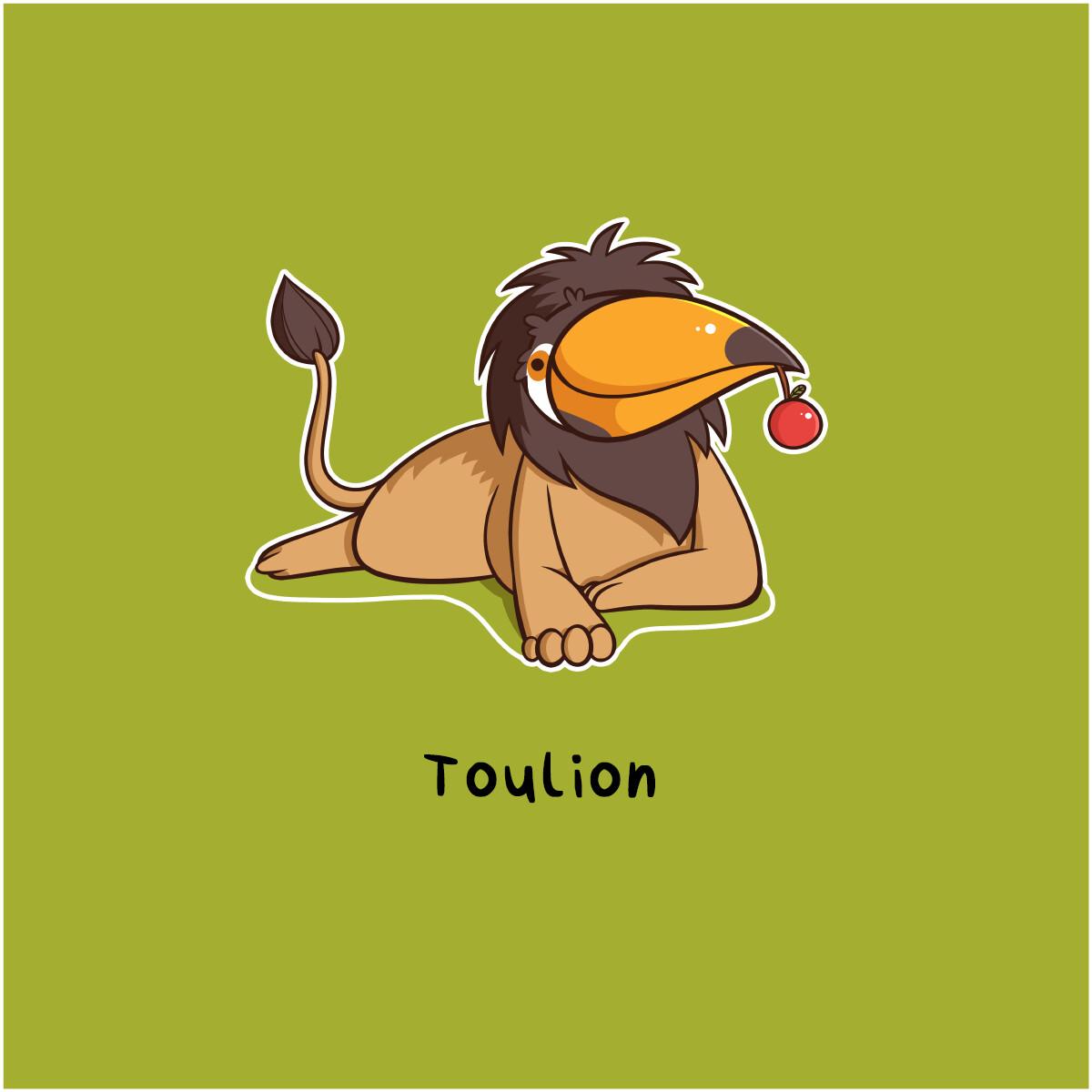 A toucan-lion hybrid.