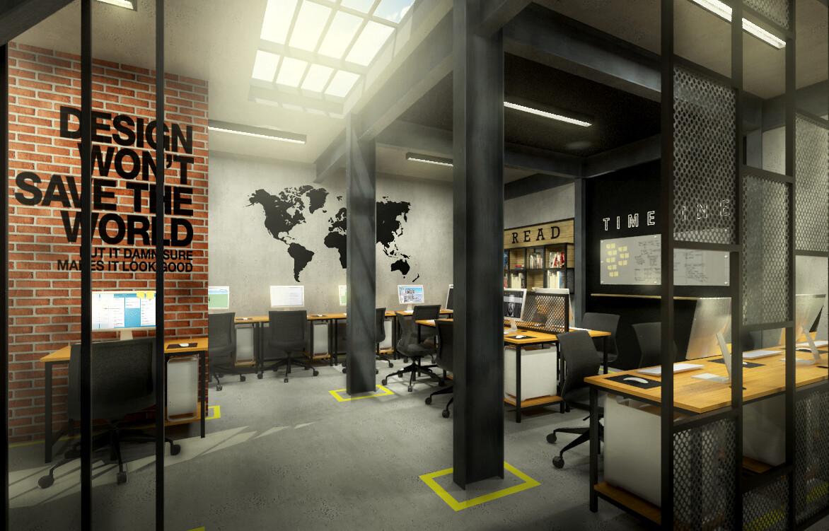 ArtStation - Industrial Office, Verdant Studio