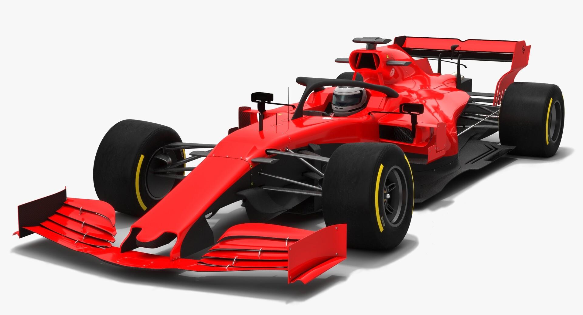 Artstation Formula 1 Season 2019 F1 Race Car 3d Model Oleksii