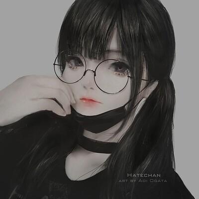 Aoi ogata my hatechan mask glasses