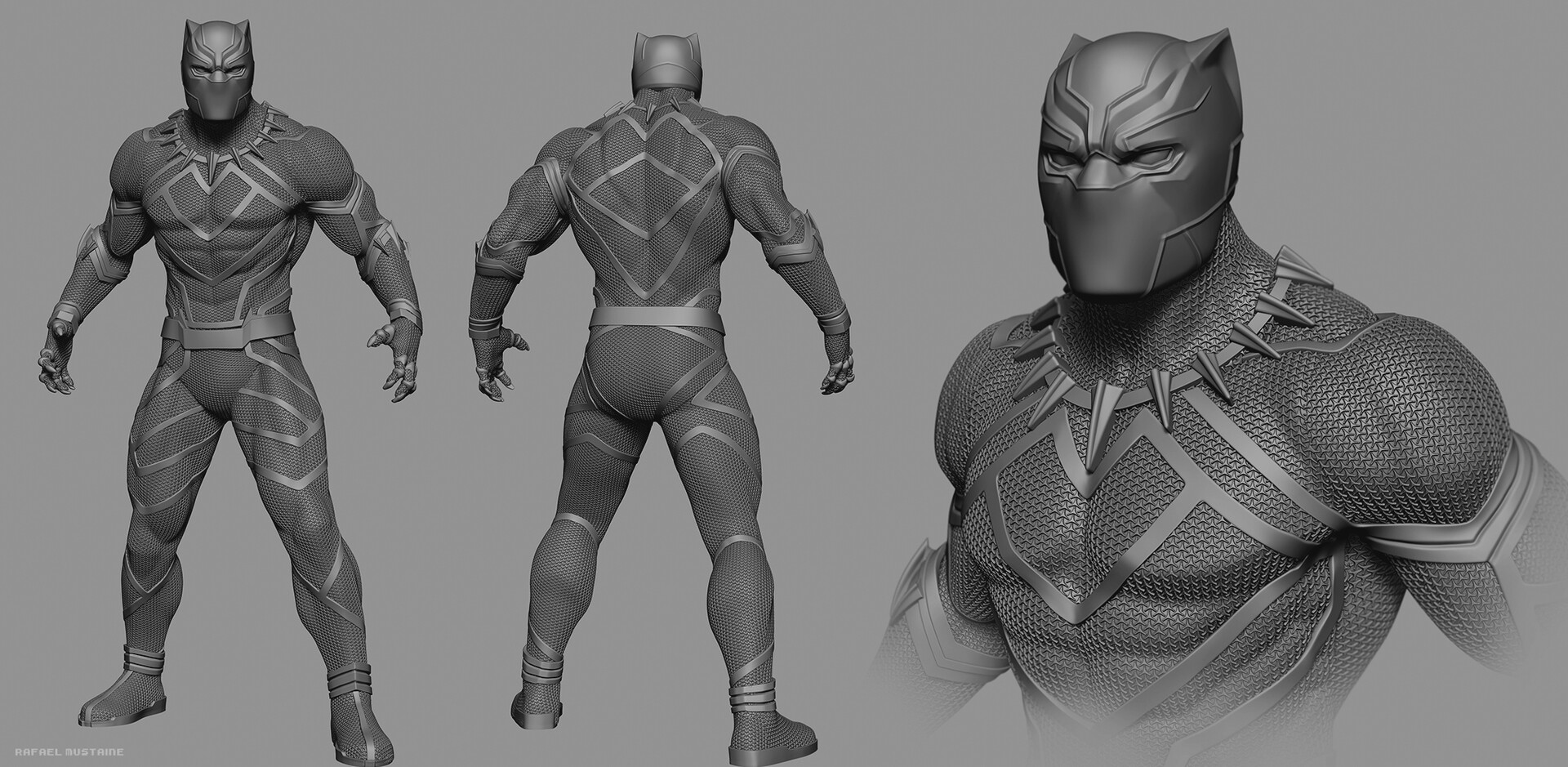 Rafael mustaine blackpanther rm zbrush