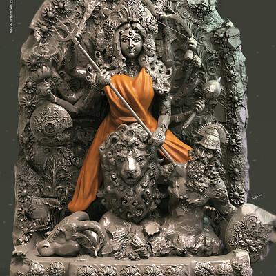 Surajit sen durga digital sculpture surajit sen april2019