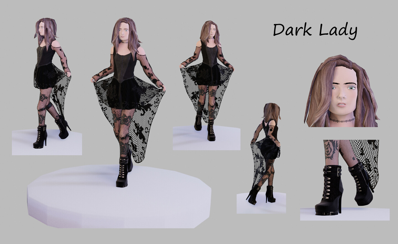 Dark Lady - renders