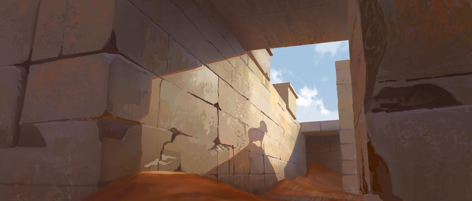 Desert, Sheperd and Lost Goats
