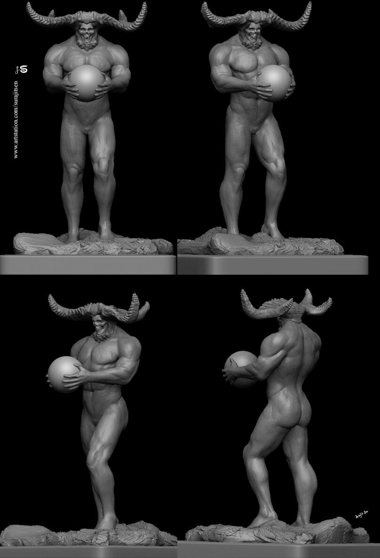 """The Onlooker"" My weekend Digital sculpt study!  Background music - #hanszimmermusic."