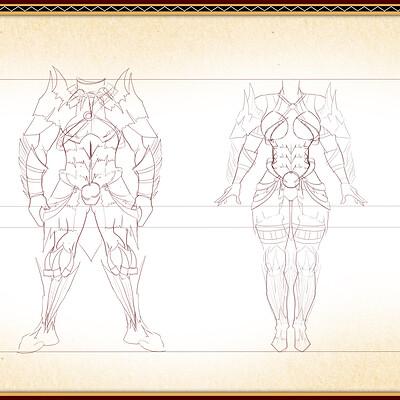 Sophie elisabeth martinez nightingale male and fem armour sketch