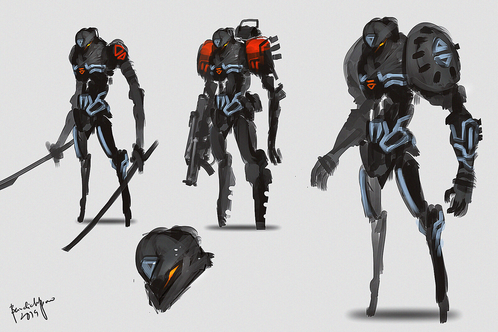 cyber unit - arm/weapon upgrades. - can upgrade to fast to heavy mechanized unit.