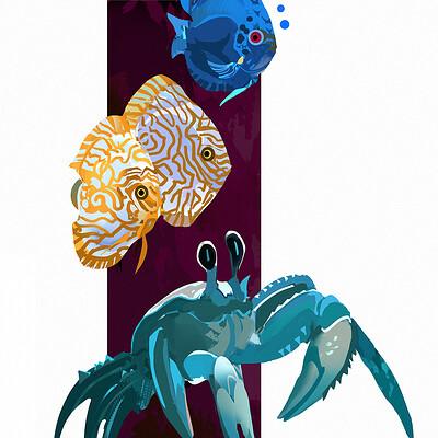 Hugo puzzuoli fish crabe small hpuzzuoli