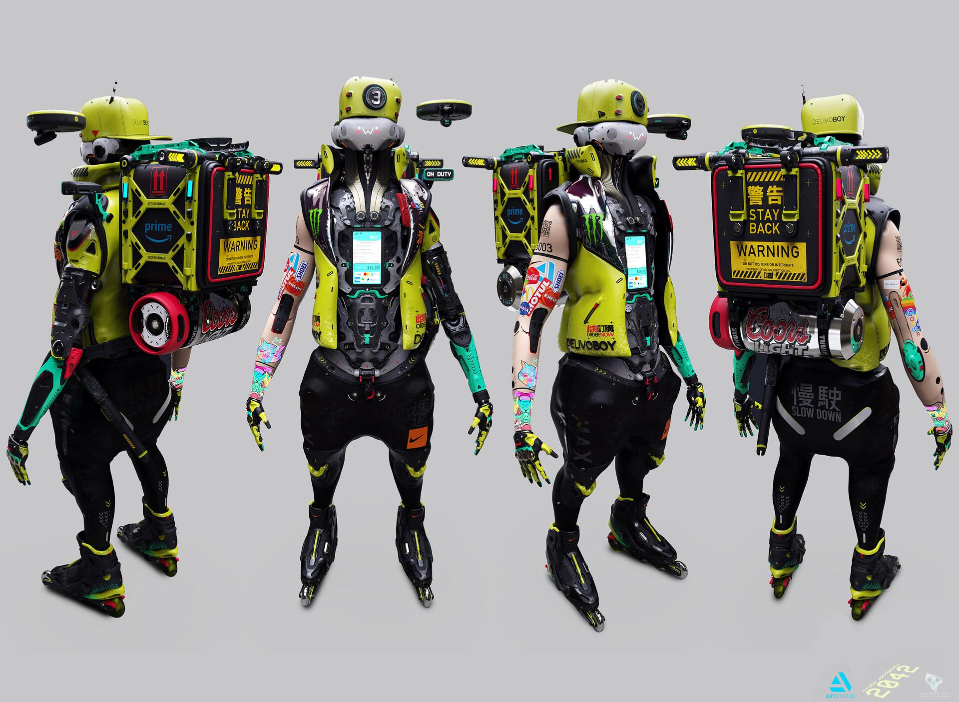 DelivoBoy character design