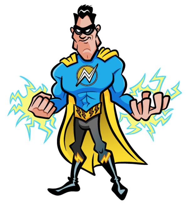 Superhero for marketing