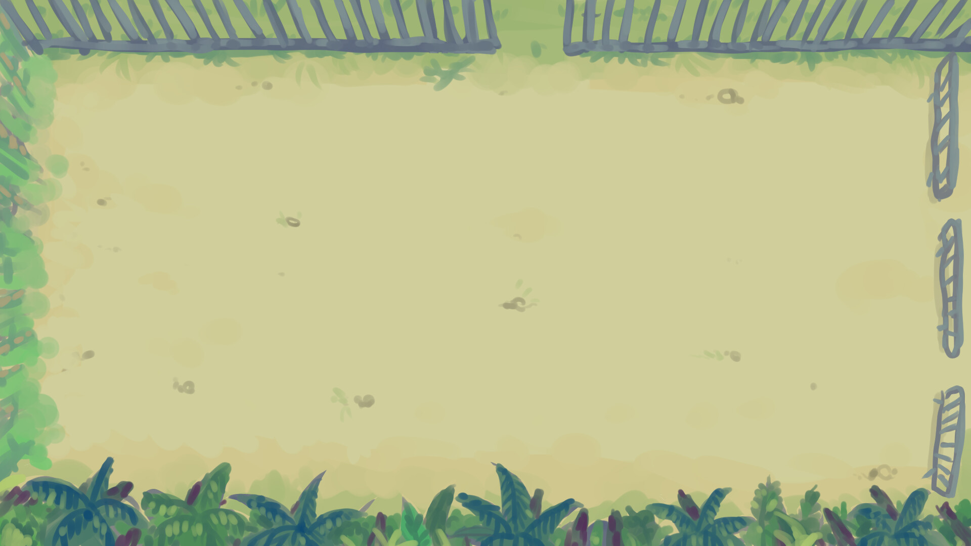 Hand-painted background of the level.