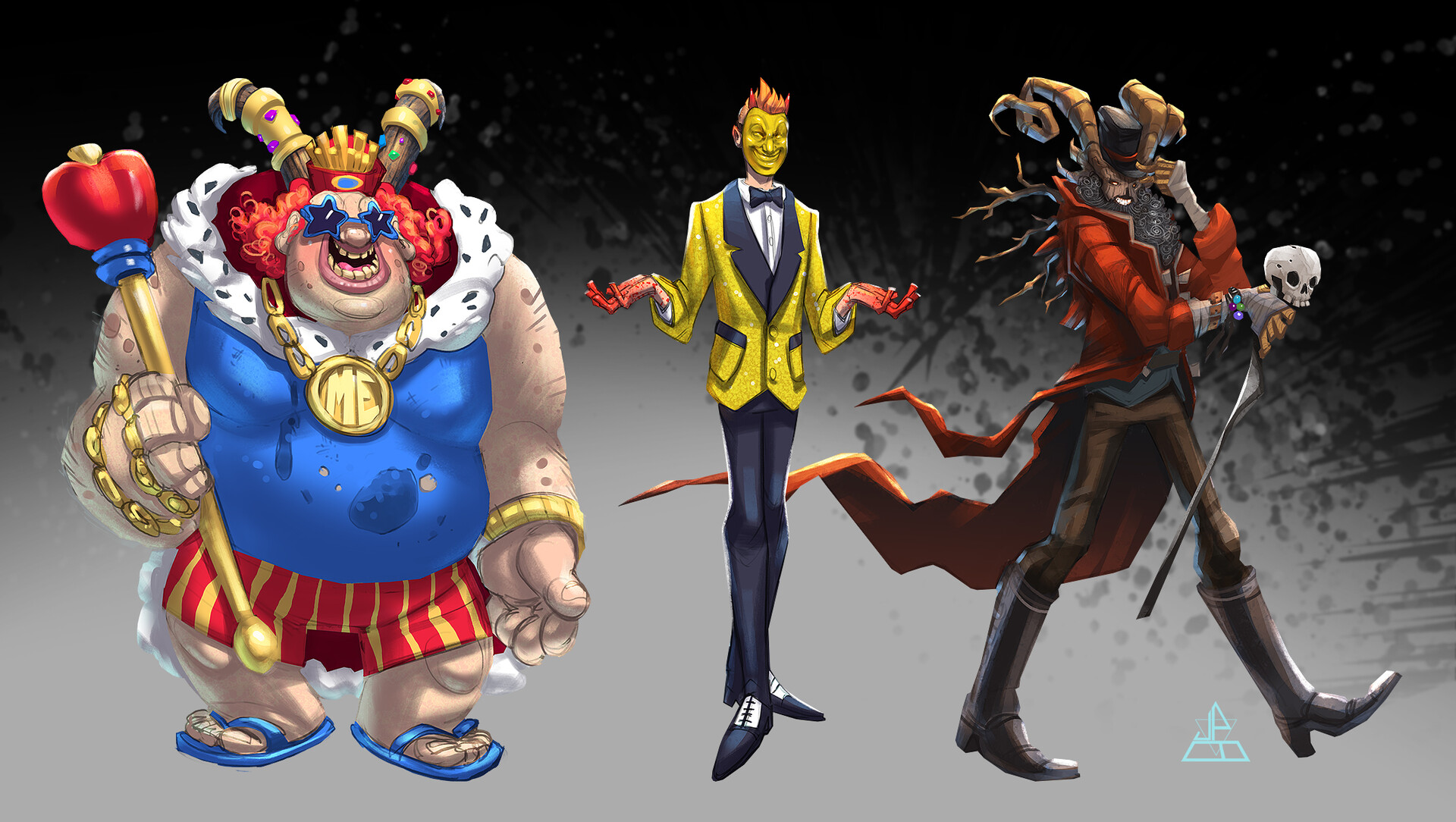 Plenty King, Mister Smiley and the Jolly Rambler - 3 of the pop culture demons encountered in the game.