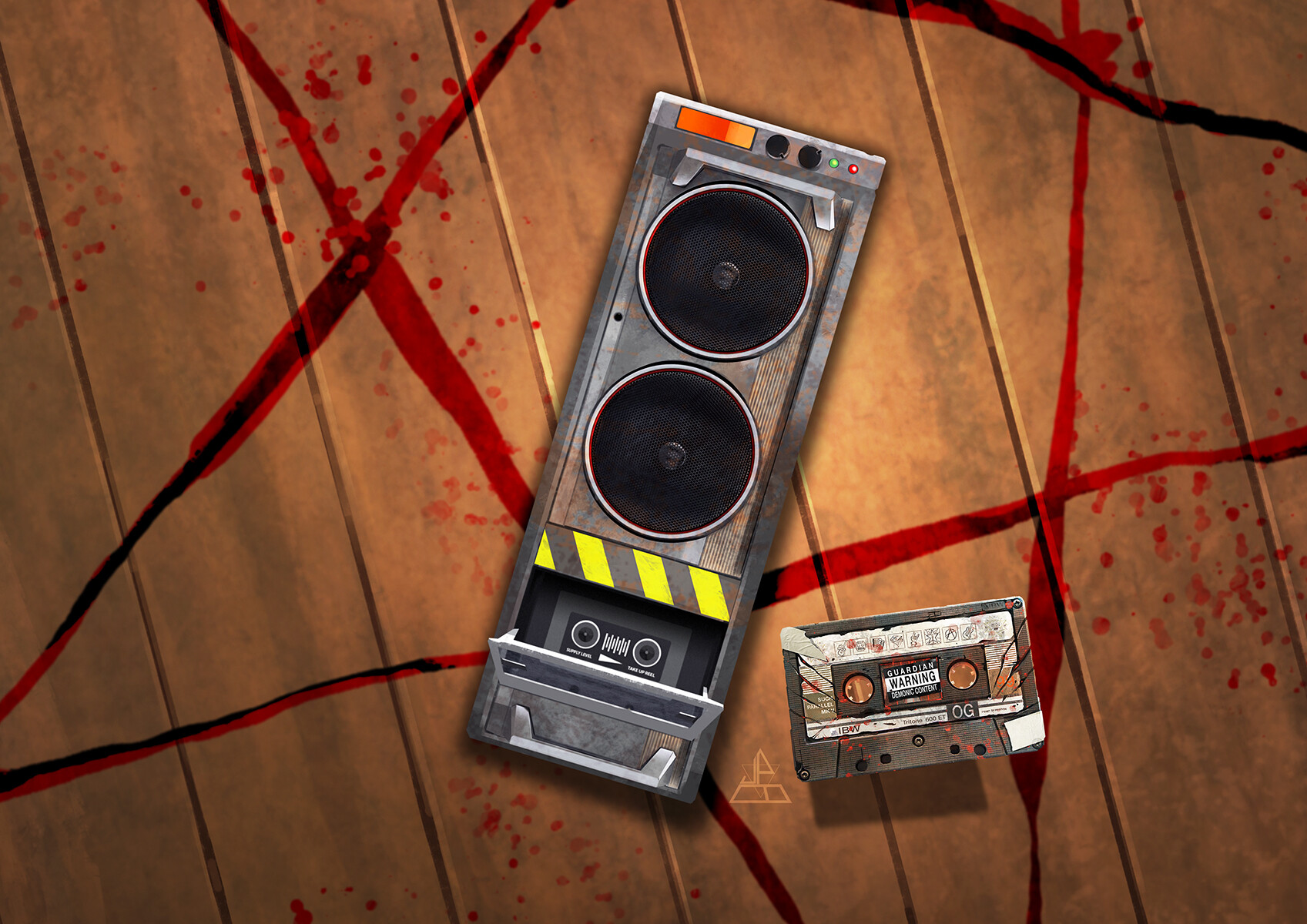 Mini tape deck (ghost trap style) and Cursed Mixtape