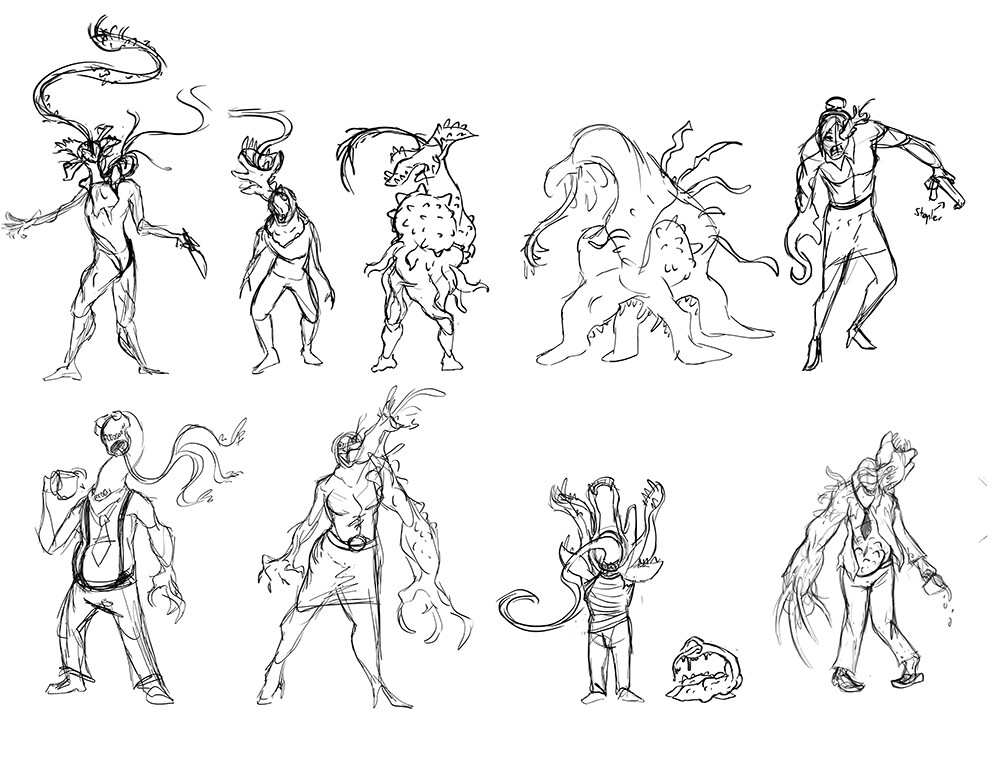 Sarah ireland monster sketches