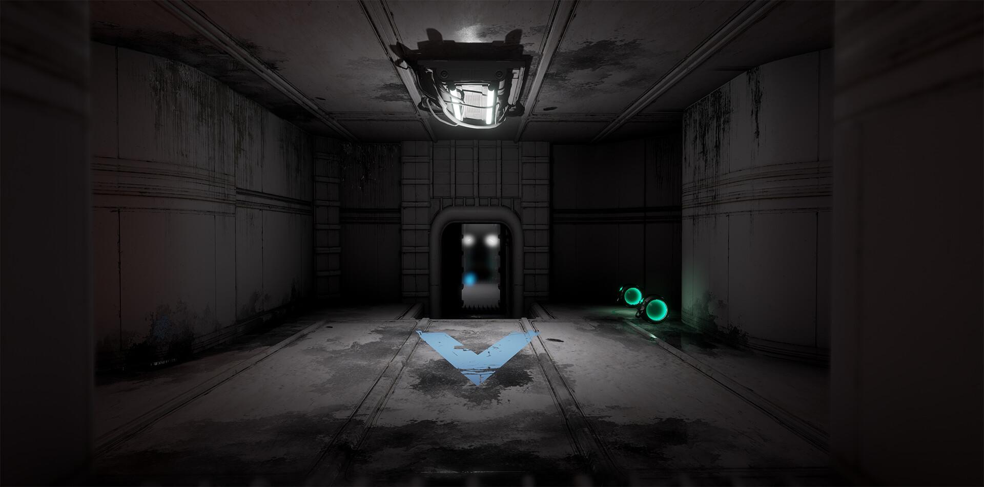 Blue Base. Main Entrance.