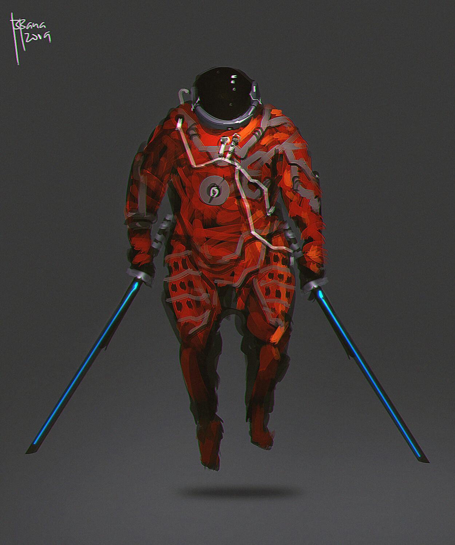concept art. samurai, swordfights in space! :D