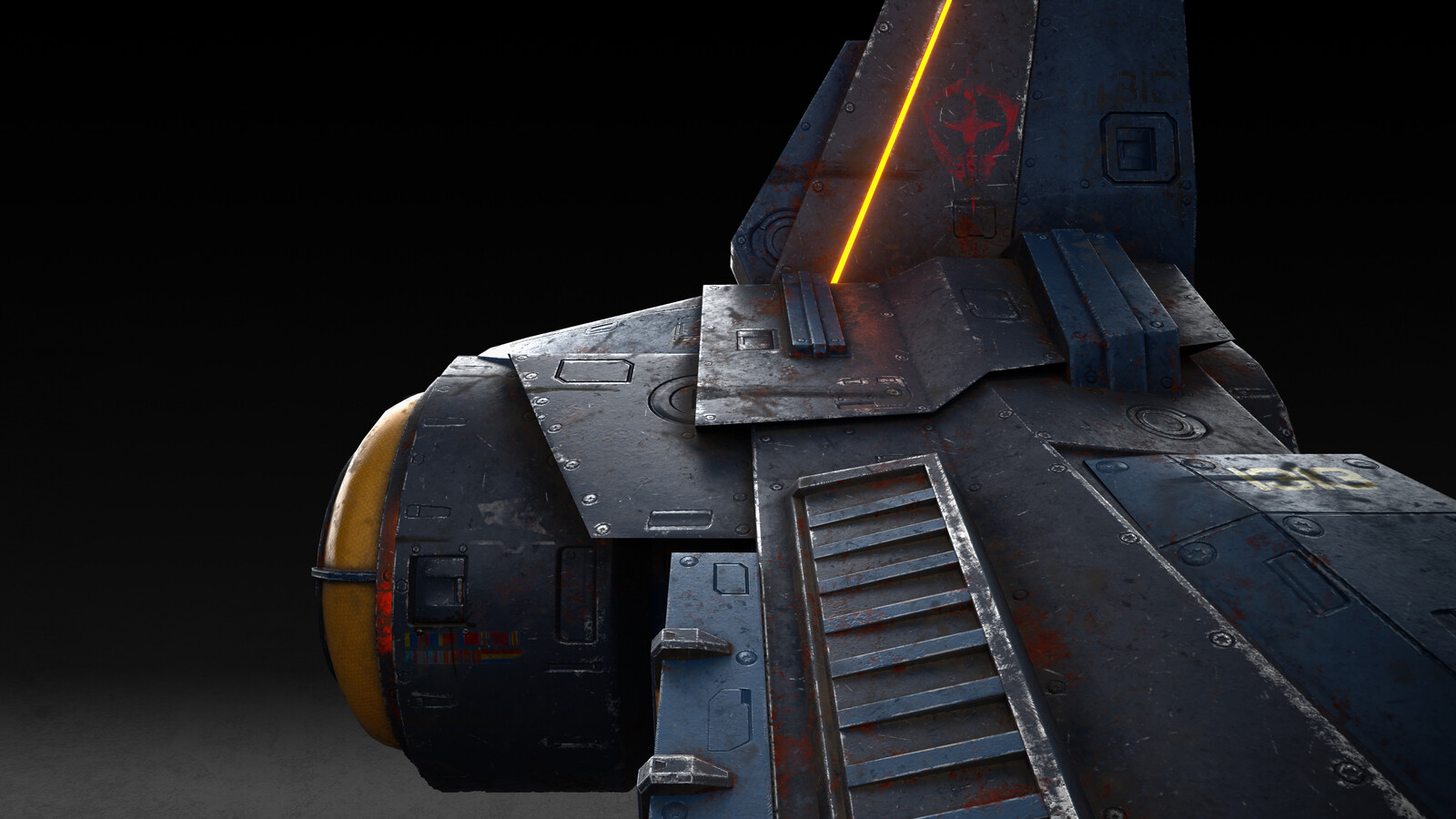 Spaceship for free course on modeling and texturing for games.