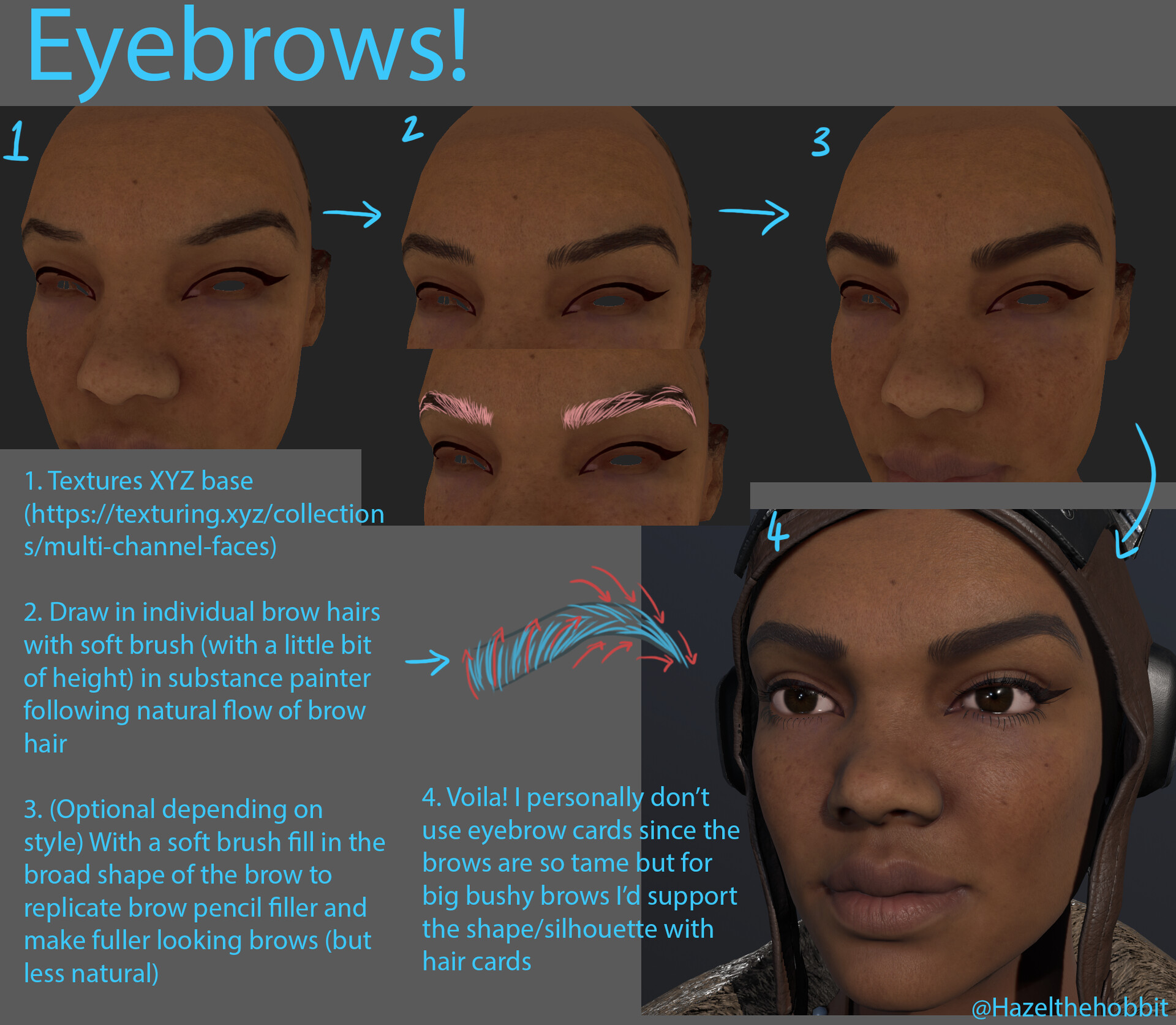 Hazel brown eyebrows