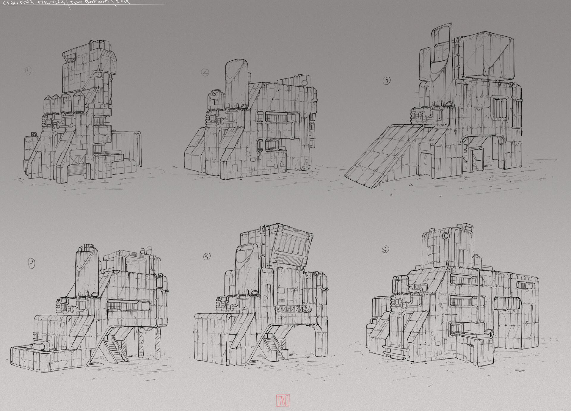 Tano bonfanti cyberpunk structures lines 1