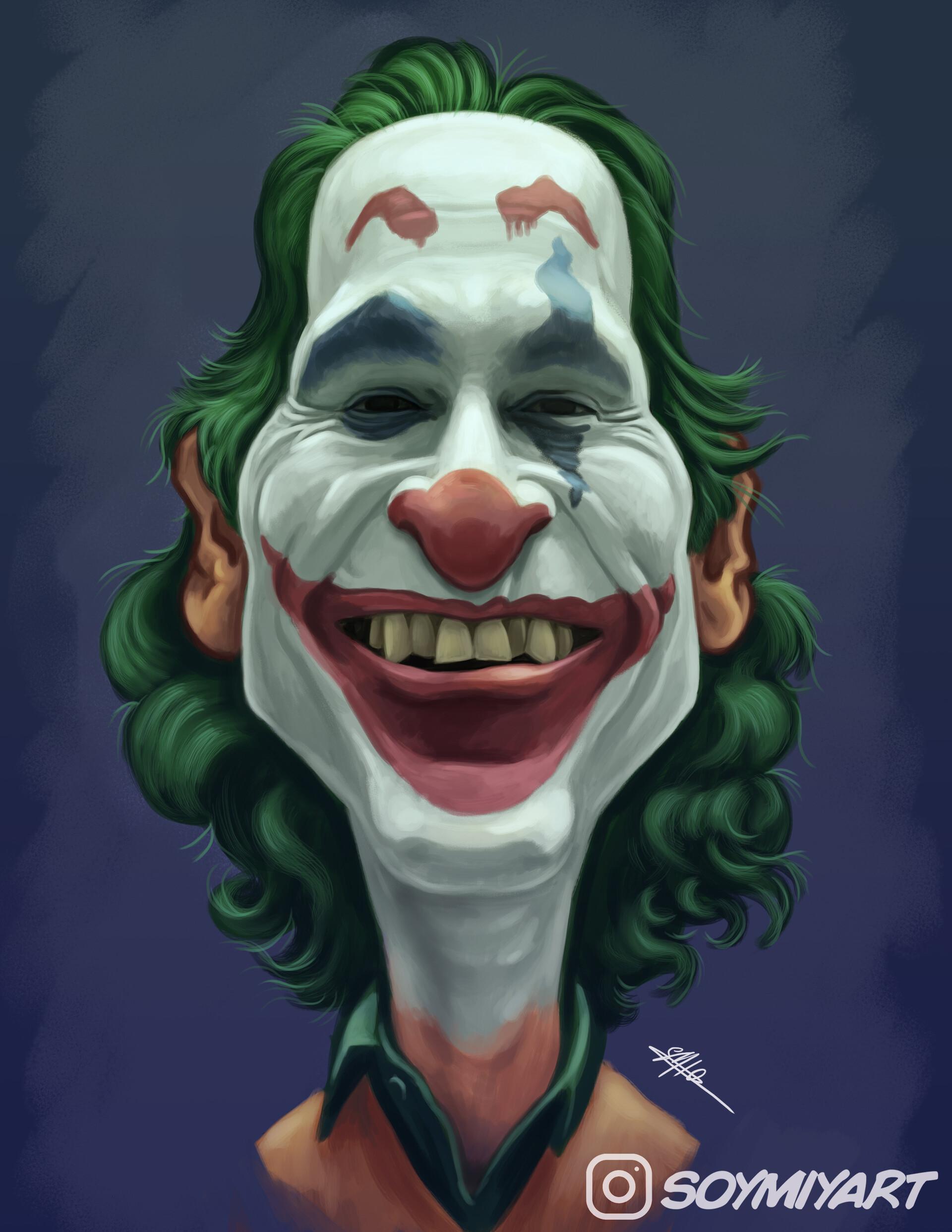 Artstation The Joker Joaquin Phoenix Caricature
