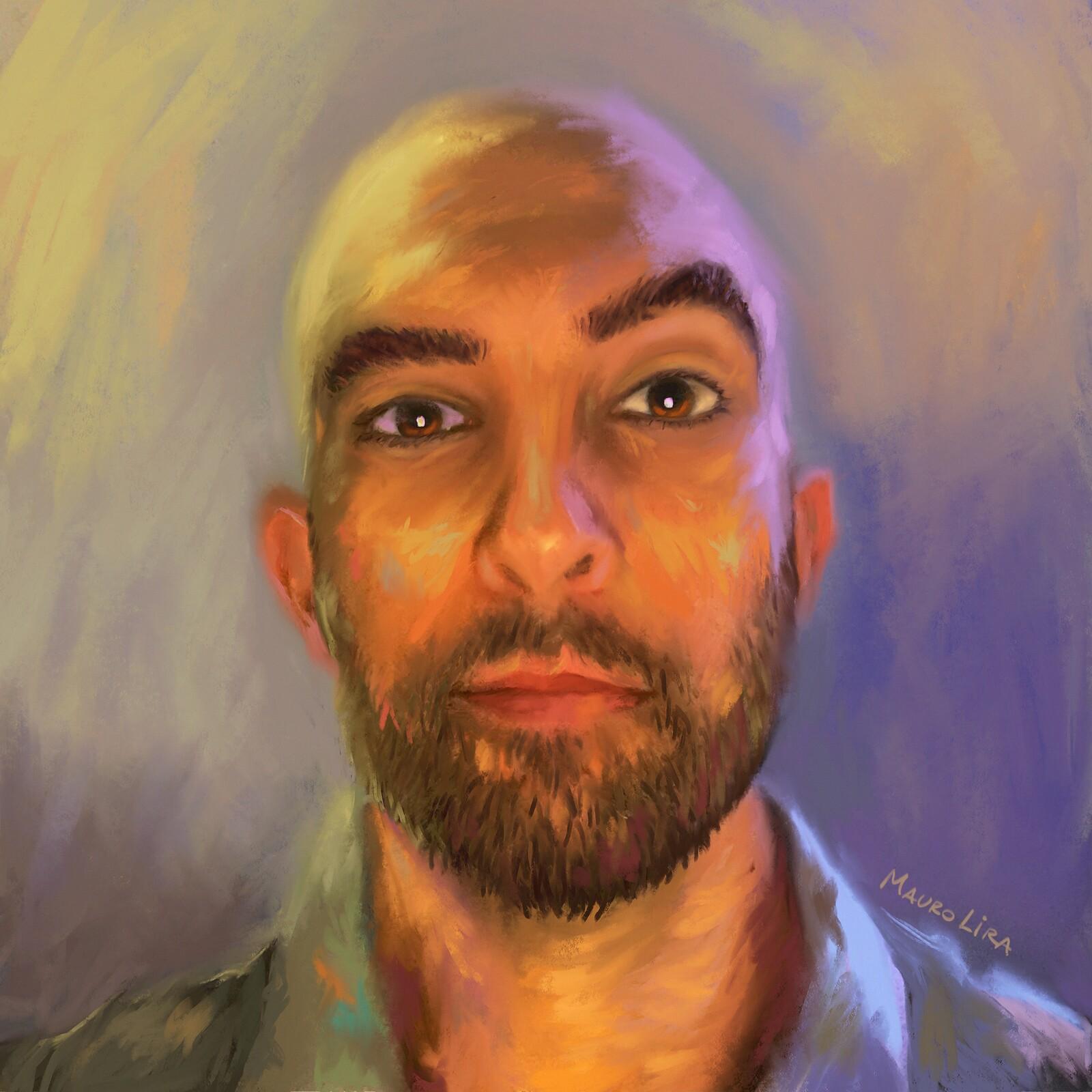 Self Portrait in Procreate