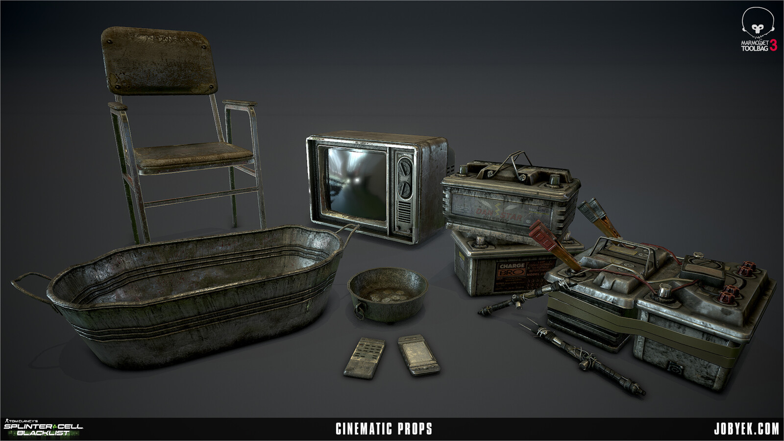 Cinematic props render
