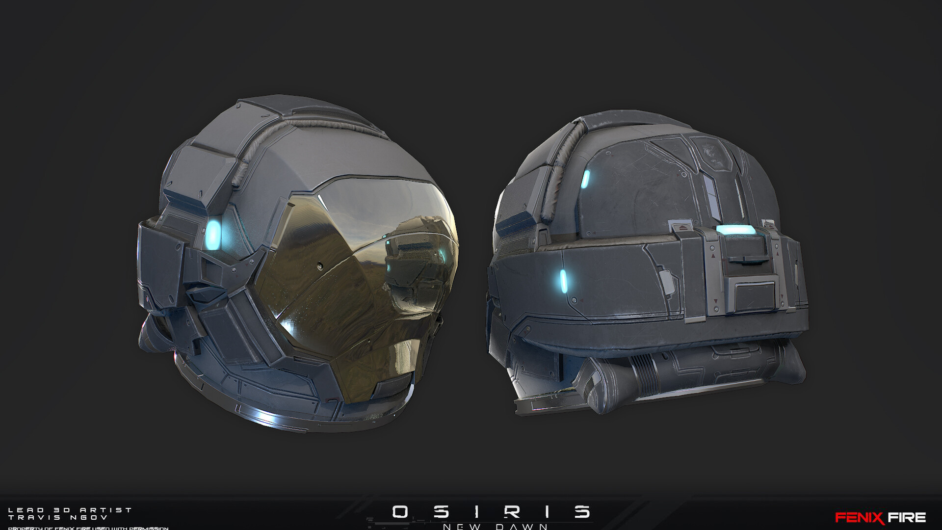 Travis ngov helmet textured