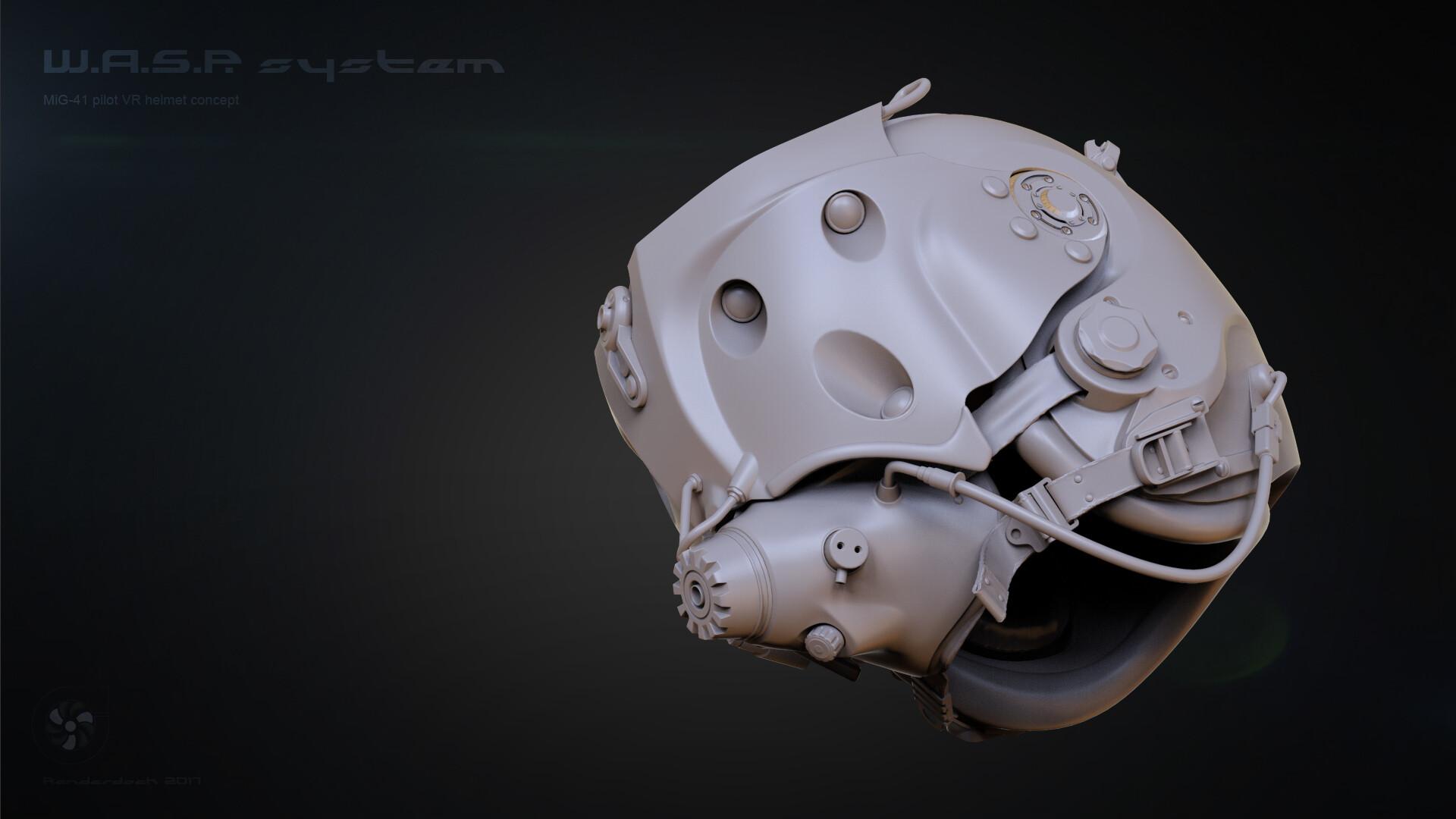 Renderdock studio helm grey4