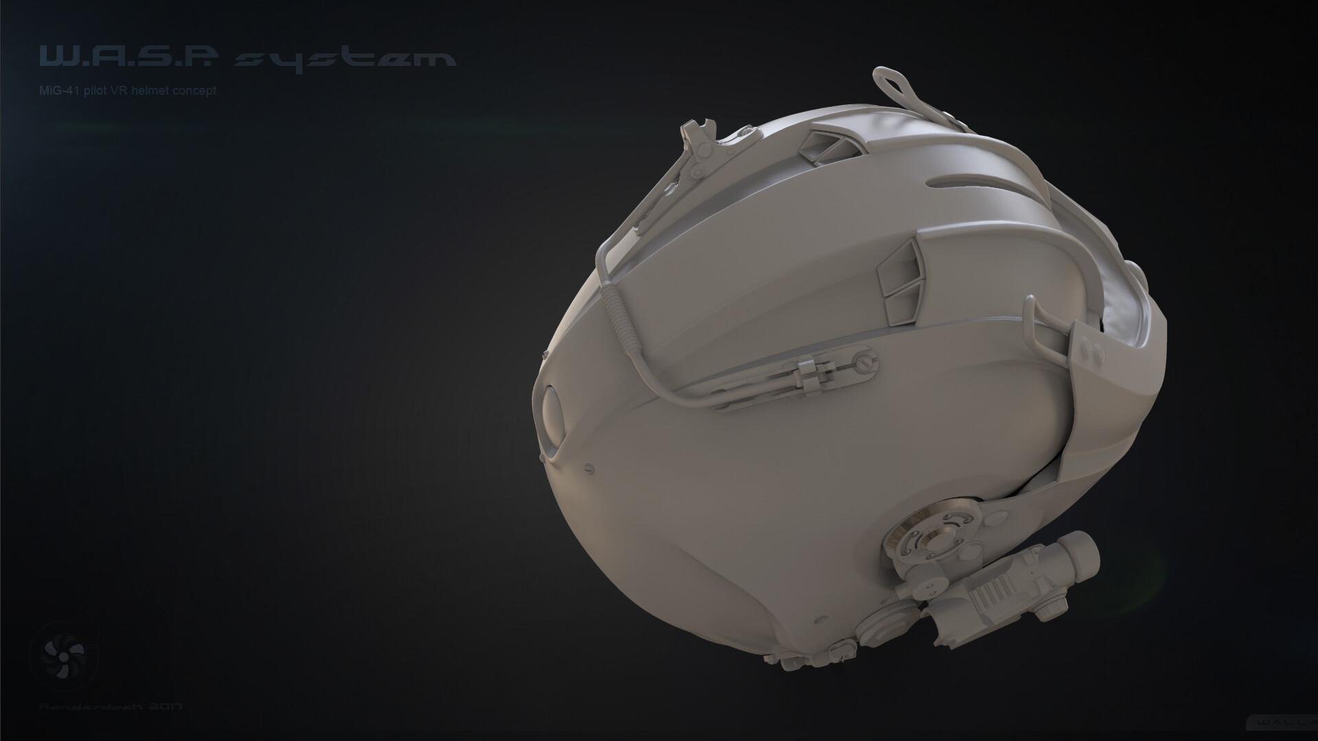 Renderdock studio helm grey5