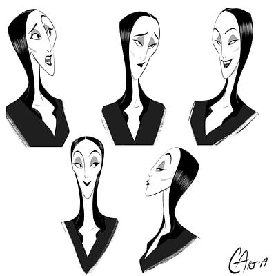Christopher ables morticia addams expressions