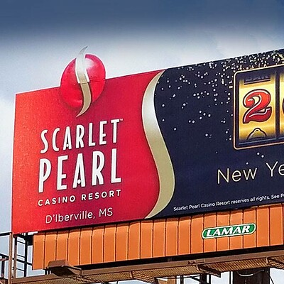 Scarlet Pearl Outdoor Banner