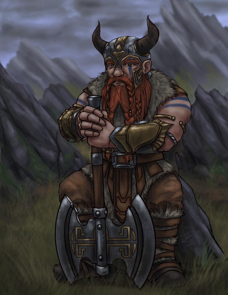 Christian hadfield dwarf barbarian update 2