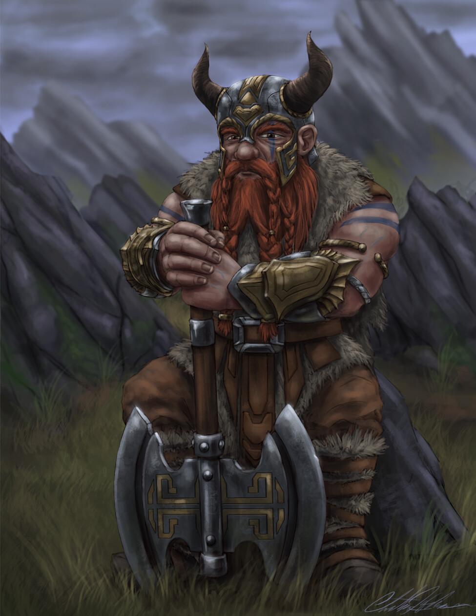 Christian hadfield dwarf barbarian by christian hadfield lowrez