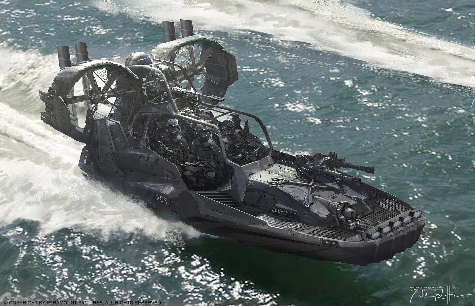 GI JOE Retaliation Propeller Boat Concept