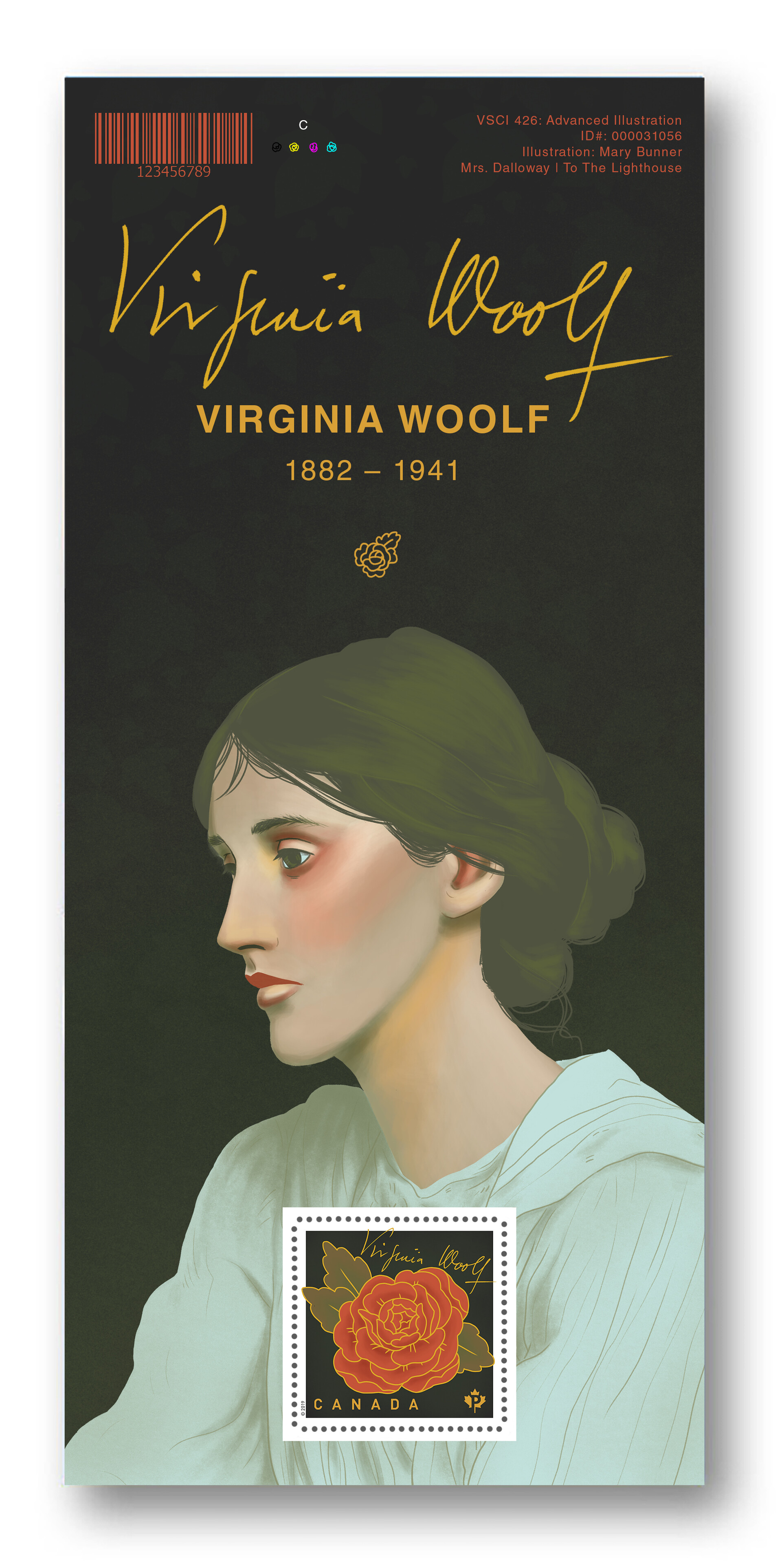 Mary roach virginia woolf stamp souvenir